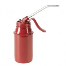 Масленка 175 мл, сталь, красная ,насос, трубка 105 mm