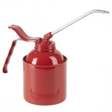Масленка 500 мл, сталь, красная, насос, трубка 135 мм