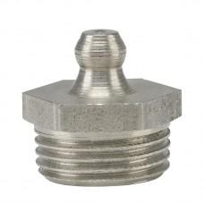Пресс-масленка H1, G 3/8''-VA-SK-SW 17, нержавеющая сталь
