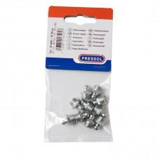 Пресс-масленка H1, прямая, в упаковке для магазинов самообслуживания 10 штук M 10 x 1,5, VZ, SK, SW 11