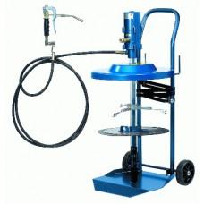 Система раздачи смазки, передвижная для емкостей 20 кг, Ø 270- 310 мм, тележка 17 008, шланг 4м