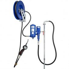 Система раздачи масла, стационарная Труба 60/1600, настенный комплект с катушкой 10м, коммерческий