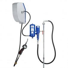 Система раздачи масла, стационарная насос 860/1600, настенный комплект с закрытой катушкой 10м, коммерческий