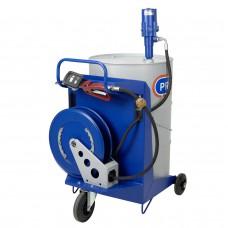 Система раздачи масла, передвижная, труба 860, 200/220 л емкость
