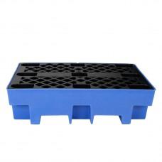 Подставка-маслосборник  Для двух 200 л бочек (пластик, (1300 x 750 x 440  mm)