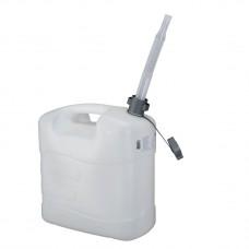 Канистра для воды, 20 л, белая, полиэтилен, с гибким сливом