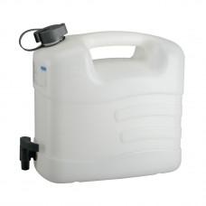 Канистра для воды, 10 л, белая, полиэтилен, с краном