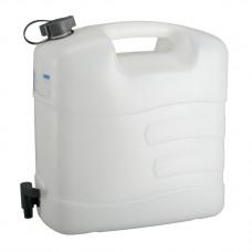 Канистра для воды, 20 л, белая, полиэтилен, с краном