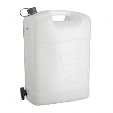 Канистра для воды, 35 л, белая, полиэтилен, с краном