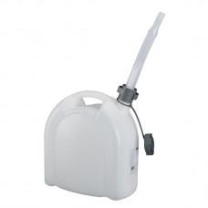 Канистра для воды, 10 л, белая, полиэтилен, со сливом — плоская