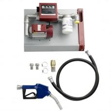 Насос для дизтоплива 60 л/мин, настенный комплект, 220 В, 6 м шланг, счетчик, фильтр, автомат